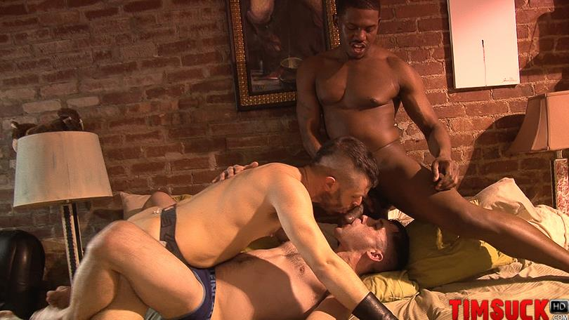 Treasure Island Media TimSuck Krave and Kyle Ferris and James Eden Big Black Cock Amateur Gay Porn 5 Two White Guys Worshipping Kraves Big Black Cock