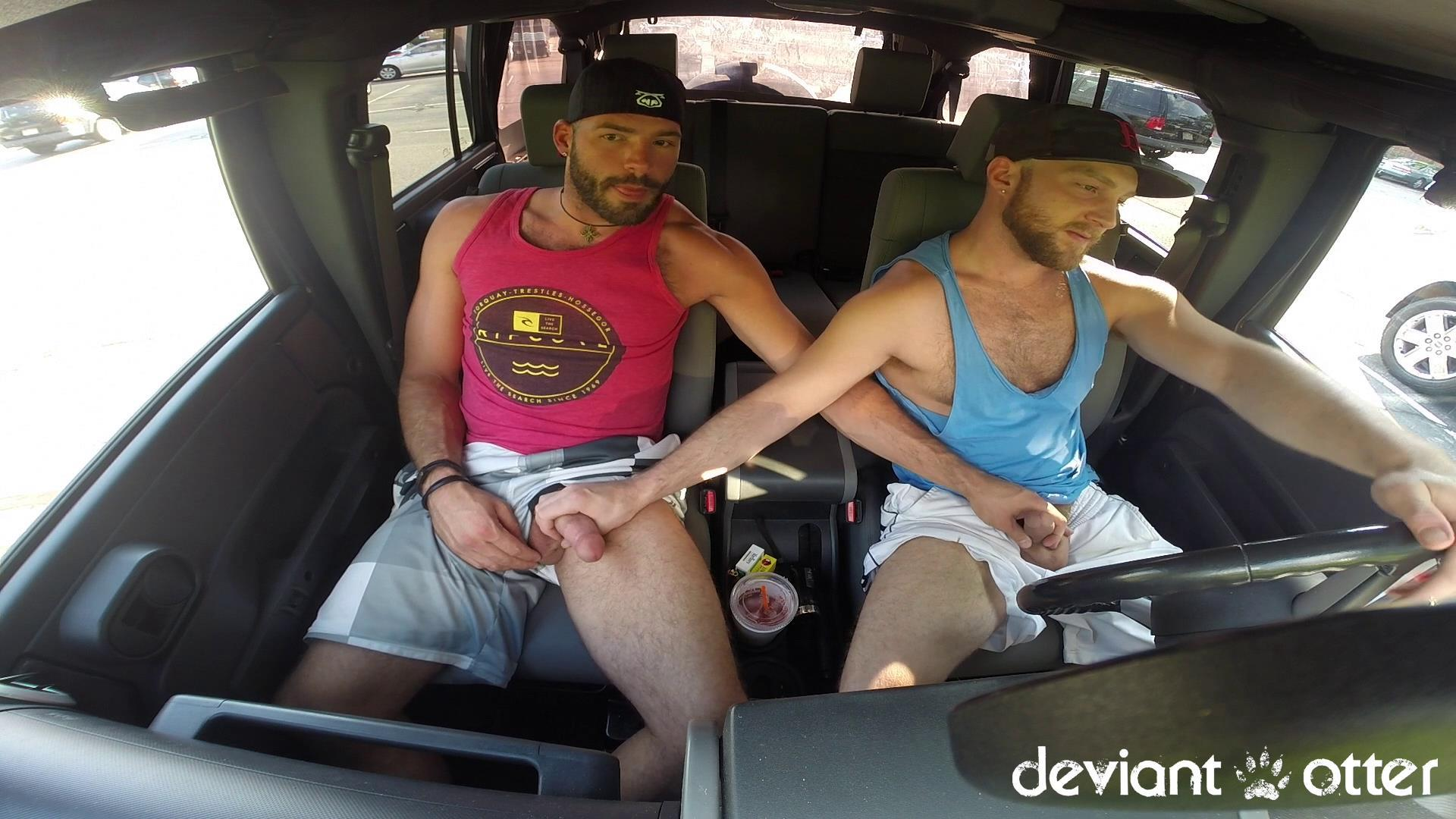Deviant-Otter-Xavier-Sucking-Cock-In-Public-Hairy-Guys-Amateur-Gay-Porn-04 Masculine Hairy Guys Sucking Each Other's Cock In A Parking Lot