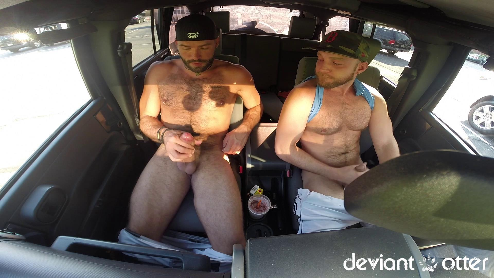 Deviant-Otter-Xavier-Sucking-Cock-In-Public-Hairy-Guys-Amateur-Gay-Porn-11 Masculine Hairy Guys Sucking Each Other's Cock In A Parking Lot