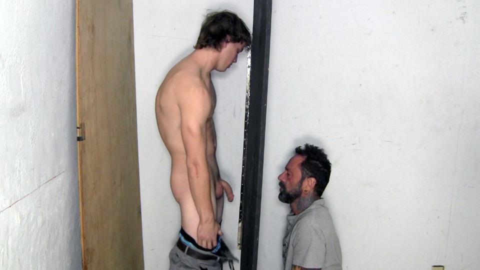 Straight Fraternity Donny Forza Straight Guy Getting Sucked Through Gloryhole Amateur Gay Porn 03 Donny Forza Gets His Big Dick Sucked Through A Gloryhole